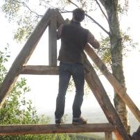 climbing a frame